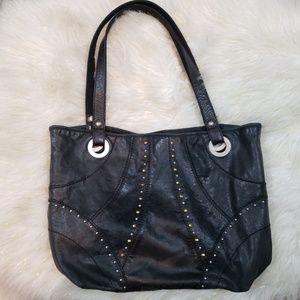 Fossil extra large leather handbag